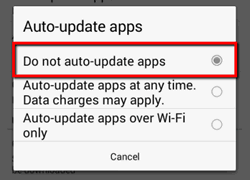 Do not auto-update apps