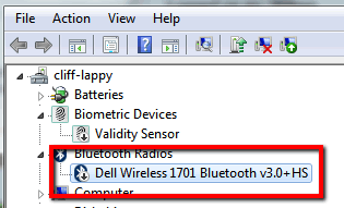 Disable Bluetooth device in Device Manager